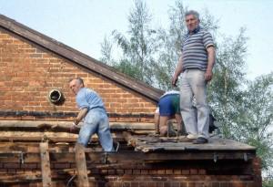 Voorbereiding bouw keuken in 1993